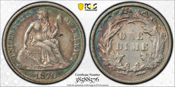 1870 S 10c Seated Liberty Dime Pcgs Xf 40 Extra Fine Key Date San Francisco T...