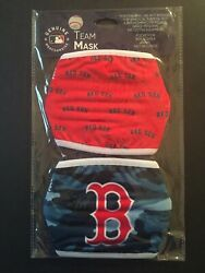 Boston Red Sox Licensed 2 Pack Adult Face Mask Covering 50% Off SRP FREE Samp;H
