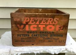 Peters Victor Ammo Box Remington Small Arms Ammunition Wooden Crate
