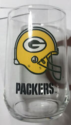 Vintage Green Bay Packers Nfl Drinking Glass Tumbler Mugs Cup