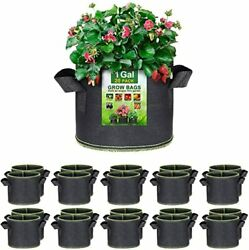 20-pack 1 Gallon Grow Bags, Thickened Nonwoven Aeration Fabric Pots With Handles
