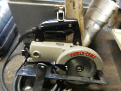 Usa Porter Cable 314 Worm Drive Circular Saw W/ Case And Wrenches