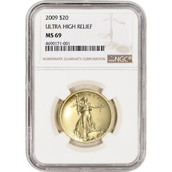 2009 Us Gold 20 Ultra High Relief Double Eagle - Ngc Ms69