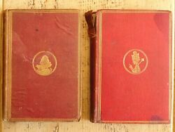 1871-1872 2vol Alice's Adventures In Wonderland And Through The Looking Glass Rare