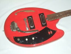 Vintage Teisco '60s May Queen Red