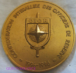 Med10374 - Medal Confederate Interalliandeacutee Of Officers Reserve 1998
