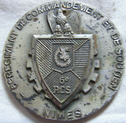 Med9633 - Medal 6° Regiment Of Command And Support Nîmes