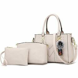 Satchel Purses and Handbags for Women Shoulder Tote Bags 4 6 White $55.08