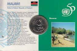 1995 Un 50th Anniversary Malawi 5 Kwacha Unc Coin In Royal Mint Pack Sealed J5