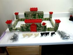 Vintage Marx 1953 Medieval Castle Fort Playset With Figures And Accessories