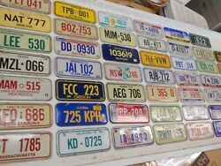 Vtg 1970 Post Cereal Mini Bicycle License Plate Lot Of 47 Us States Set