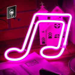 Neon Sign Music Note Light - Wall Decoration Neon Light Bedroom Birthday Party