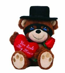 Precious Moments Figurine, Bandit With Heart And Rose Plush