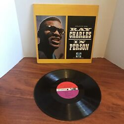 Ray Charles In Person Lp 1960 Red Purple Mono Edition Label Atlantic 8039