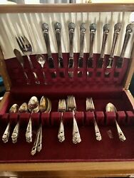 1847 Eternally Yours Set Rogers Silverplate Service For 8 + Serving 50+ Pieces