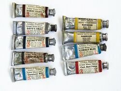 Lot Of Antique Winsor And Newton Watercolor Tubes 1880's - Super Rare Collectible