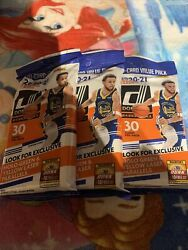 2020-2021 Nba Donruss Basketball Cello Fat Value Pack Lot Of 3 30 Cards Each