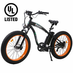 Ecotric 26 750w 48v Electric Bicycle Fat Tire Mountain Batch City Ebike Ul
