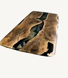 Conference Epoxy Dining Table Wooden Resort Olive Furniture Decors Made To Order