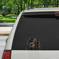 Dachshund Car Window Cover Decal Stickers Wraps, Dogs Car Decal, Pet Wrap 12x12