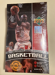 1998-99 Ud Basketball Series 1 Factory Sealed - Look For Game Worn Jersey Cards