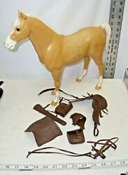 Marx Johnny West Thunderbolt Horse Complete With Tack