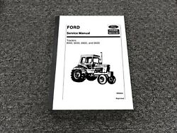Ford New Holland 8000 9000 8600 9600 Tractor Shop Service Repair Manual 40800020