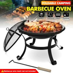 Wood Burning Fire Pits Bbq Grill Outdoor Stove Garden Patio Wood Log Barbecue Po