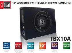 10 In. Powered Car Subwoofer High Performance With Built In Amplifier 300 Watts