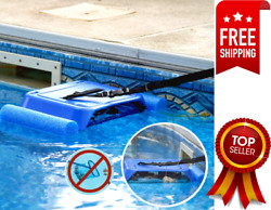 Hands Free Pool Skimmer   Continually Captures Floating Debris