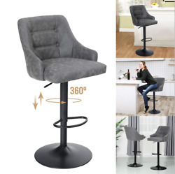 Bar Stools Height Adjustable Pu Leather Swivel Bar Chair Kitchen Dining Chairs