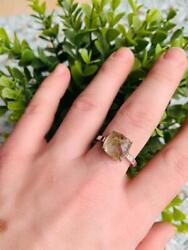 Rutile Quartz Ring Solid 925 Sterling Silver Best Gift For Her Gemstone Jewelry