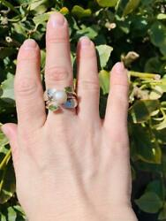 Beautiful Multi Stone Ring Solid 925 Sterling Silver Jewelry Anniversary Gift