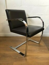 Knoll Brno Chairs In Brown Leather - Set Of Four Price Inclusive Of Vat