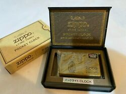 Zippo Time Tank Pocket Clock Lantern Lamp Outdoor Camp 1996 Imported From Japan