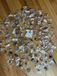 Wholesale Jewelry Lot 175 Pieces Rings Earrings Charms Silver