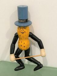 Mr Peanut Planters Schoenhut Wood Toy Figure 1930s Advertising Jointed Doll Exc