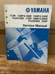 Yamaha Outboard Service Manual For 115p - 225p - P/n Lit-18616-00-61