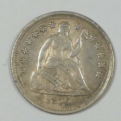1856 Silver Liberty Seated Half Dime Almost Uncirculated