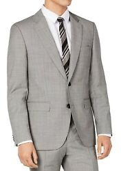 Hugo Boss Mens Suit Jacket Gray Size 42 R Basket Weave Wool Two-button 445 028
