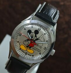 Vintage Oris Mickey Mouse Hand Wind St 9617 Jewels Menand039s Wrist Watch