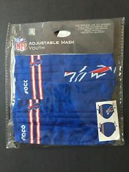 Buffalo Bills Youth Size Licensed 2 Pack Face Mask Covering 50 Off Srp Free Sandh