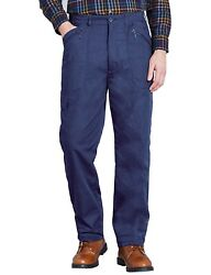 Mens Fully Lined Thermal Stretch Waist Action Trouser Pants
