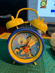 The Simpsons Bart Alarm Clock Playworks 2001 Very Good Condition