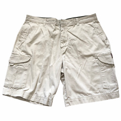 Maui And Sons Menand039s Casual Outdoor Cargo Shorts 38 Waist Beige 100 Cotton