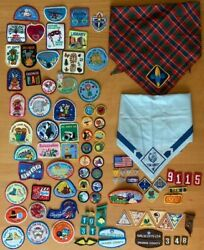 Large Vintage Lot Cub And Girl Scout Patches Badges Southern California Free Ship