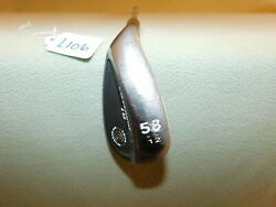 Left Handed Cleveland Cg16 Black Pearl Tour Zip Grooves Wedge Flex 12 58 Wedge
