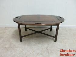 Ethan Allen Georgian Court Cherry Butlers Coffee Drop Side Serving Table