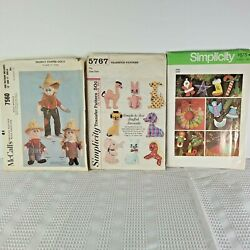 Vintage Simplicity Mccalland039s Patterns 1960s 1970s Holiday Decor And Stuffed Animals