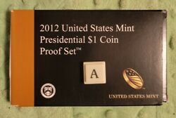 1 2012 United States Mint Presidential Dollar Coin Proof Set W/ Box And Coa 54